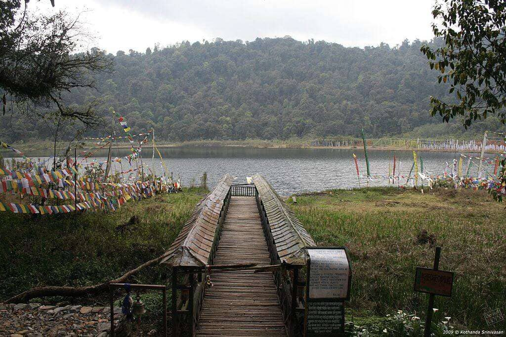 Foot bridge to Khecheolpalri Lake