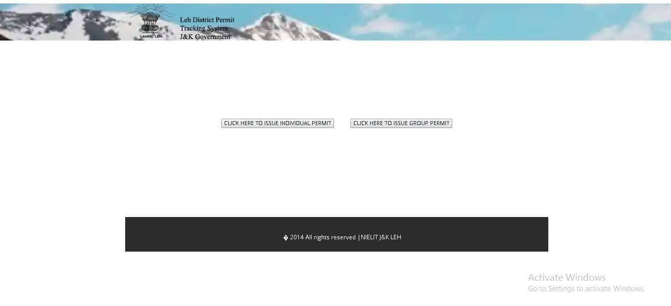 Ladakh Permit Online Booking issue permit