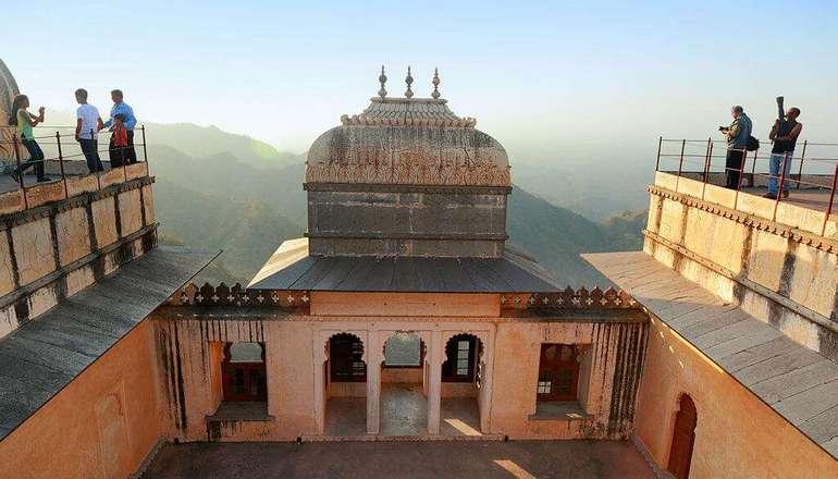 View from Badal Mahal terrace overlooking Kumbhalgarh Wildlife Sanctuary