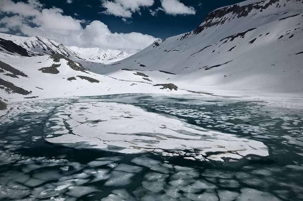 Suraj Tal Lake Lahaul Valley Himachal Pradesh